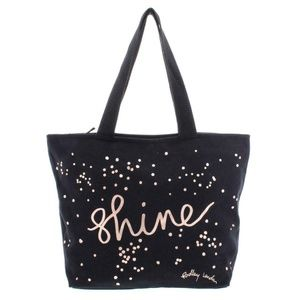 RADLEY BLACK METALLIC SHINE LARGE TOTE BACK